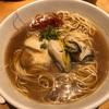 482. 牡蠣そば@風見(銀座):シンプル醤油スープに牡蠣とエリンギという意外な組み合わせが相性抜群!