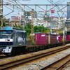 8月7日撮影 東海道線 平塚~大磯間 貨物列車① 5075ㇾ 3075ㇾ