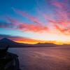 バイクで朝焼けの富士山を見に薩埵峠へ