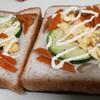 【朝食】【時短】お弁当作りが始まってから、朝はパン食になりました。