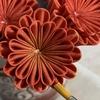 つまみ細工  丸つまみ  2段の菊の作り方