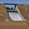 北辰ダムのオーバーフロー