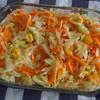 【レシピ】キャベツ・にんじん・コーンのサラダ りんごジュース入りでちょっぴりフルーティー♪
