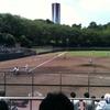 多摩一本杉公園 (多摩一本杉球場) ヒノアラシとか 駐車場とか 高校野球とか