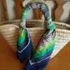 シンプル生活のおしゃれ~素朴なかごバッグが簡単リメイクで新鮮♪スカーフを巻く方法