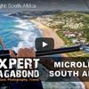 南アフリカの海岸線をウルトラライトプレーンから眺める