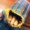 毛糸の手編みくつ下の穴を直す