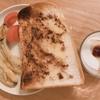 朝ご飯:シュガーバターシナモントースト~バナナのキャラメリゼ添え~☆ちょびっと子育て記録