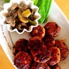 【お弁当】砂肝とマッシュルームのアヒージョ&鶏つくねの照り焼き