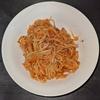 ホットクック 試作レシピ 調味料塩だけでカニ缶とトマト缶の無水ナポリタン
