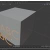 Blender2.8のナイフ投影を使って平面にテキストの頂点と面を反映する
