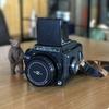 中判フィルムカメラのゼンザブロニカS2をお借りしました