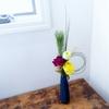 簡単【お正月花】水引き・ベアグラスをポイントに。
