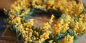 春を告げるミモザのリース作り。逗子サクラヤマパーラーは人と体験が交差する楽しいカフェ