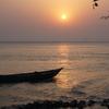 バングラデシュの田舎で見た夕日がとてもきれいでした