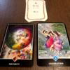 今週末と来週をあらわすカードは円熟、アドバイスカードは祝福、アロハウハネカードは闇と光でした