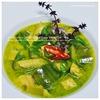 旬の素材:高知産四方竹とさつまとろ茄子入|自家製ペースト鶏グリーンカレー