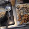 幸運な病のレシピ( 2167 )昼  :唐揚げ、カレイ揚げ、ナス天ぷら、シュウマイ素揚げ、サバ唐揚げ、さば味噌煮、