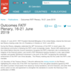 【対訳】2019年6月16日〜21日 FATF総会の成果 Outcomes FATF Plenary, 16-21 June 2019