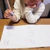 自作プリントで線を書く練習✏️
