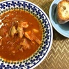 7月18日【煮込み料理レシピ】超簡単メニュー・チキンのトマトシチューにフランスパンは合う♪