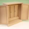 神棚でもあり祖霊舎でもある 至ってシンプルな木箱のような御札舎本三社
