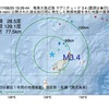 2017年08月25日 19時29分 奄美大島近海でM3.4の地震