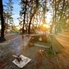 無料で豊富な湧水と奇麗な夕日が最高!園家山キャンプ場(富山県)