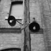 木の電信柱