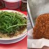 【五反田】魁力屋の特製醤油九条ネギラーメンと岸商店のコロッケ!!