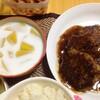 【今日の食卓】あんかけ豚ハンバーグ+タピオカとマンゴーのココナッツミルク煮