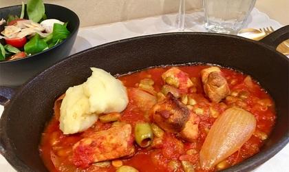 【フランス家庭料理】豚肉と玉ねぎのトマト煮込み-白ワインに合う!