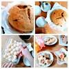 【子どものおやつ簡単レシピ2選(白玉粉)】  お豆腐入りなめらか白玉団子2色とバナナケーキ