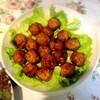 黒酢ミートボール、鶏唐揚げ、生ハムサラダ