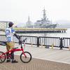 折りたたみ自転車で三浦半島ポタリングと海上自衛隊カレー