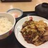 松屋で食べる回鍋肉