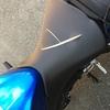 心無いバカに傷つけられたバイクシートを完全補修した