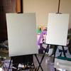 新しい絵始めます。(ぎゃらりぃあと様公募展「ときめきの1ページ」出展用 M20号張りキャンバス、油彩画)