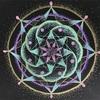 宙を奏でる点描曼荼羅画✨