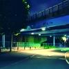 【フリー素材】夜中の港区散歩のイラスト:10枚