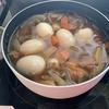 断食しようとしたら邪魔されたので、野菜スープを作ってもらった。