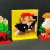 [アイロンビーズ]お正月な作品作ってみた!マリオから立体の鏡餅&門松までいろいろ