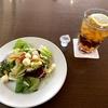 ジョイフル本田・千葉ニュータウン PRESTON CAFE 紙ストロー 渡蟹のパスタランチ