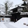 雪降る弘前、大晦日の散歩