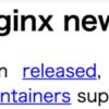 nginx unit 1.8.0 リリース