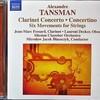 タンスマン/クラリネット協奏曲・小協奏曲・弦楽のための6楽章