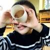 親子で作る☆紙コップとセロハンを使った万華鏡のようなオモチャ