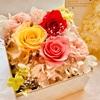 【プレゼントにぴったり☆】プリザーブドフラワーのボックスアレンジ♪♪