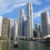 シンガポール街歩き#125(川沿いの高層ビル群・午後6時)