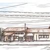 iPadで描いた風景画 稲荷町駅(富山地方鉄道)
